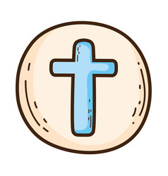 Holy host communion icon vector
