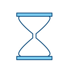 Hourglass time clock vector