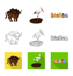 isolated object traditional and tour symbol vector image