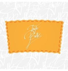 Jingle bells Handwritten calligraphy over vector image
