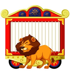 Lion and carnival cage vector image