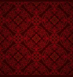 luxury ornamental background damask floral vector image