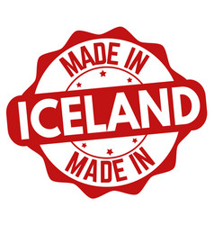 made in iceland sign or stamp vector image