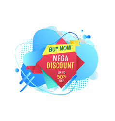 mega discount buy now super price banner vector image