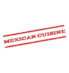 Mexican Cuisine Watermark Stamp vector