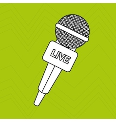 Microphone isolated design vector