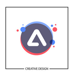 Modern and minimalist letter a logo template vector