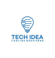 Modern tech bulb logo designs concept pixel vector
