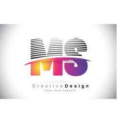 ms m s letter logo design with creative lines and vector image
