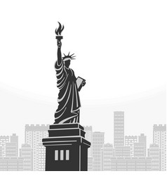 new york statue liberty symbol vector image