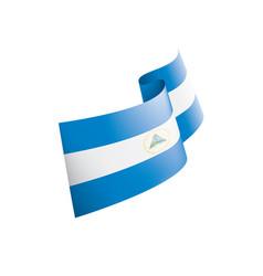 nicaragua flag on a white vector image