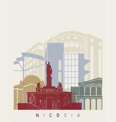 Nicosia skyline poster vector