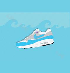 Nike air max 1 og aqua vector