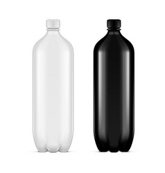 pet plastic clean disposaple bottle on white vector image