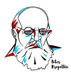 peter kropotkin portrait vector image