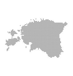 pixel map of estonia dotted map of estonia vector image