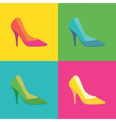Pop art shoes vector
