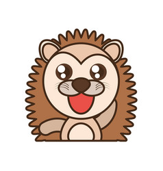Porcupine baby animal kawaii design vector