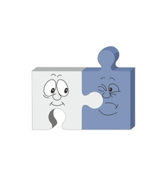 puzzle smile emotion vector image