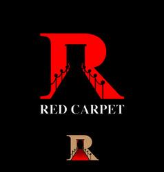 R letter red carpet symbol concept vector