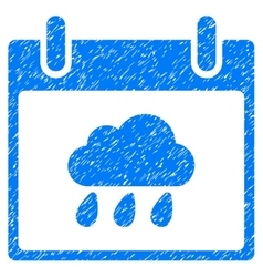 Rain Cloud Calendar Day Grainy Texture Icon vector image
