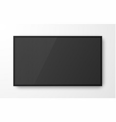 Realistic television screen on transparent vector
