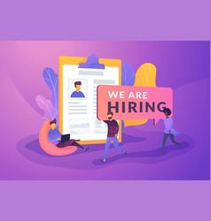 Recruitment agency creative concept vector