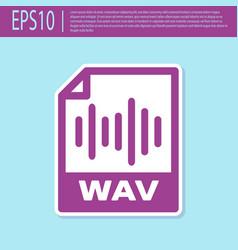 Retro purple wav file document icon download wav vector