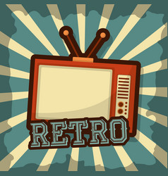 retro vintage tv vector image