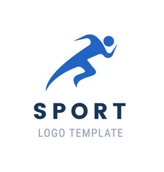 runner logo fast abstract running man vector image