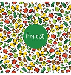 Seamless pattern forest vector