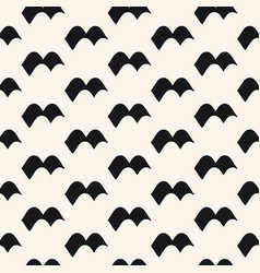 Seamless pattern with waves monochrome texture vector