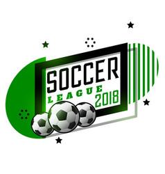 soccer league tournament banner design vector image