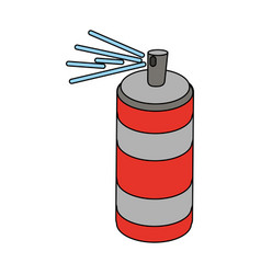spray painting bottle vector image