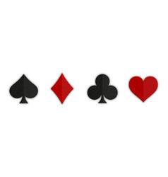 Suit playing card symbol on white background vector