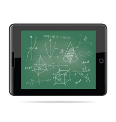 Tablet computer with mathematics vector