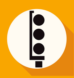traffic lights icon on white circle with a long vector image