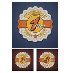 Warranty term fabric badge vector