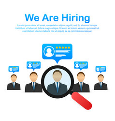 We re hiring recruitment concept hire workers vector
