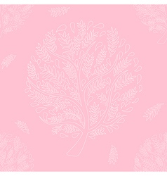 White Tree on Pink Background vector image