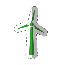 wind mill electric environment design vector image