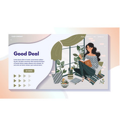woman reading book on windowsill home leisure vector image