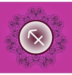 Zodiac sign The Archer sagittarius vector