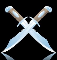 daggers vector image