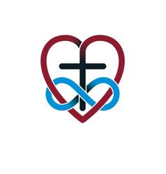 everlasting love of god creative symbol design vector image vector image