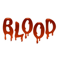 Inscription blood vector image vector image