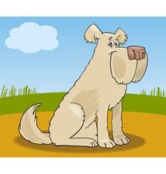 Sheepdog shaggy dog cartoon vector image