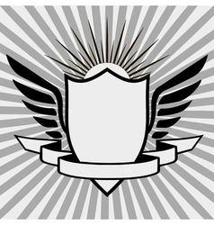 template heraldic logo vector image vector image