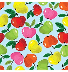 Apple seamless pattern vector image vector image
