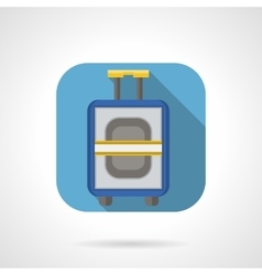 Flat color design luggage icon vector image